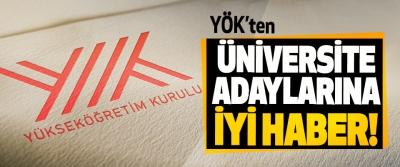 YÖK'ten Üniversite Adaylarına İyi Haber!