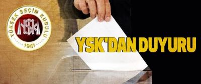 Ysk'dan Duyuru