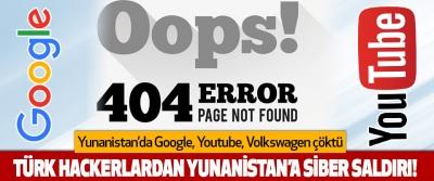 Yunanistan'da Google, Youtube, Volkswagen Çöktü