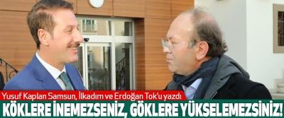 Yusuf Kaplan Samsun, İlkadım ve Erdoğan Tok'u yazdı