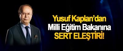 Yusuf Kaplan'dan Milli Eğitim Bakanına Sert Eleştiri!