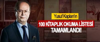 Yusuf Kaplan'ın 100 kitaplık okuma listesi tamamlandı!