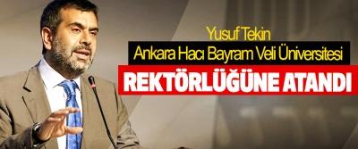 Yusuf Tekin, Ankara Hacı Bayram Veli Üniversitesi Rektörlüğüne Atandı